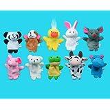 Generic Soft Plush Animal Finger Puppet Set (10 Piece)
