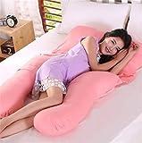 JaHGDU Versatile Maternity Pillow Lumbar Pillows Baby Products Soild Color Pink Sleeping Pillow for Women 80 140cm