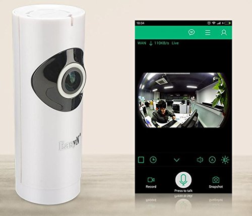 BW Digital Wireless Video Baby Monitor Security Wireless IP Camera with 1.0 Megapixel 1280×720p HD Image Sensor and Infrared Night Vision ,Motion Detection, Two Way Audio, Voice Prompt to Set (Angle View:Horizontal:185°, Vertical: 95°) , WiFi Babe Care Can Be Controlled Remotely by Smart Mobile Device (Free IOS and Android APP), Usef...