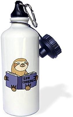 3dRose wb/_255696/_2Funny Cute Llama with Soccer Ball or Futbol Straw Water Bottle White