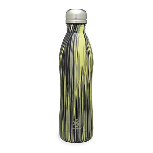 Gaiam Stainless Steel Water Bottle, Lime Light, 17 oz