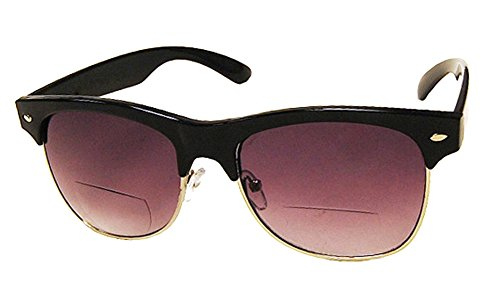 Rodeo Dakotas Half Frame Magnifying Bi Focal Sun Reader Vintage Work Style Sunglasses (Slate, 3.00) by Rodeo