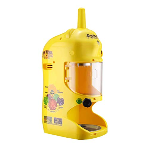 Great Northern Popcorn 83-NA6066 Northern Yellow Hawaiian Shaver | 120V Electric Snow Cone Machine | Professional Polar Pal Ice Crusher Model with Safety Shield,