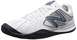 New Balance Men's 60v1 Minimus Tennis Shoe, White/Black, 7 2E US
