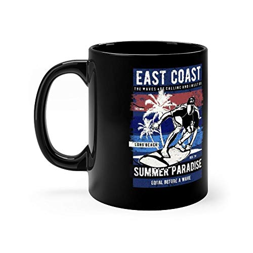East coast surfing summer surfer paradise 11 Oz Ceramic