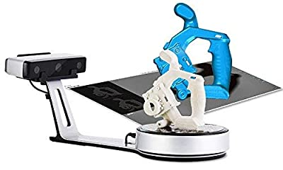 2019 Version EinScan-SP White Light Desktop 3D Scanner, 0.05 mm Accuracy, 1200mm Cubic Max Scan Volume, 4s Scan Speed, Fixed/Auto Scan Mode, Compelete Upgrade from EinScan-SE Desktop 3D Scanner