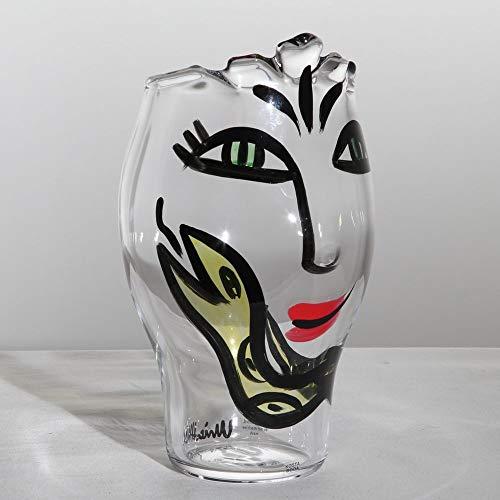 Kosta Boda Open Minds Vase, Clear/Yellow