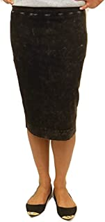 product image for Hard Tail Forever Wide Cut Cotton Pencil Skirt, Knee Length - Style: W-525