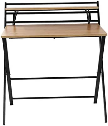 Youmymine Folding Study Computer Desk – Writing Desk Portable Small Lazy Foldable Table Laptop Desk for Small Space,Free Installation Home Office Desk (Khaki) 41wAtdRyHVL