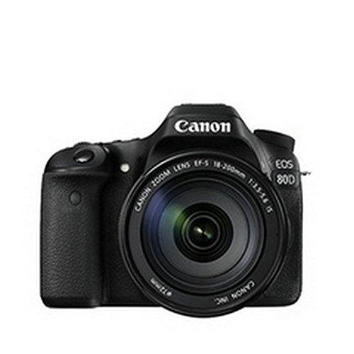 Canon EOS 80D Digital SLR Kit with EF-S 18-55mm f/3.5-5.6 is STM Lens (US Model, Black)