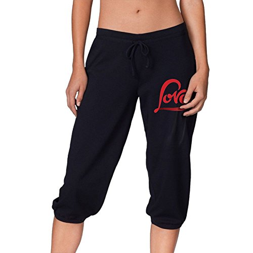 Jersey Pants Everlast - Love In My Heart Womens Capri Jersey Pants French Terry Knit Capri Best For Gym Sports!