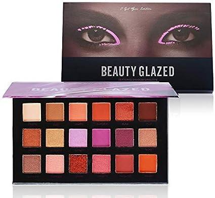 Beauty Glazed Paleta De Sombras De Ojos Profesionales - Paleta Maquillaje - Altamente Pigmentados 18 Colores Brillantes y Mate: Amazon.es: Belleza