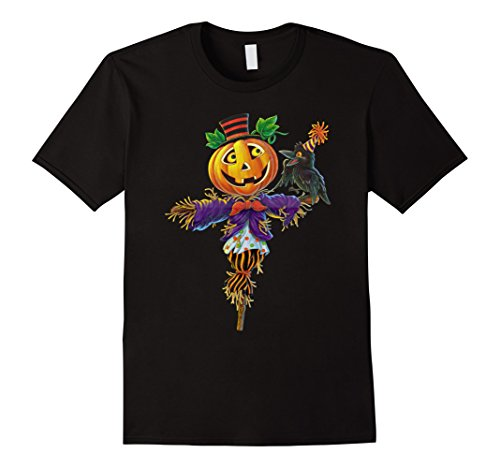 Homemade Scary Scarecrow Costumes (Mens Halloween Scarecrow For Scary Costume Tee Shirt Horror Night 2XL Black)