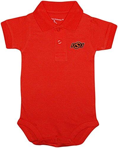 Creative Knitwear Oklahoma State University OSU Buckeyes Newborn Polo Bodysuit Oklahoma State University Baby Clothes