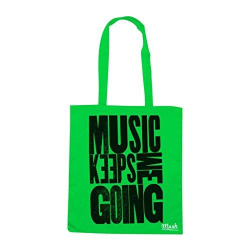 Borsa Music Keeps Me Going - Verde prato - Music by Mush Dress Your Style