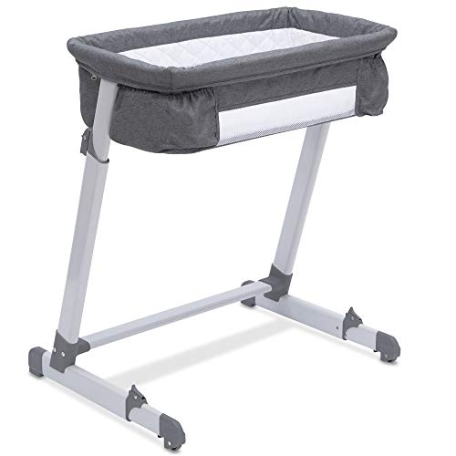 Simmons Kids by The Bed City Sleeper Bassinet, Grey Tweed (Best Bassinet For Small Spaces)