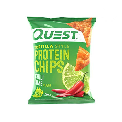 Quest Tortilla Style Chips - Chili Lime - 30 Count