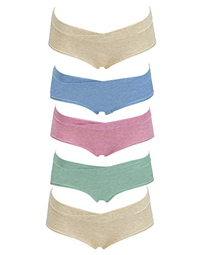 Kindred Bravely Under The Bump Heather Hipster Maternity/Postpartum Underwear 5 Pack (Large)