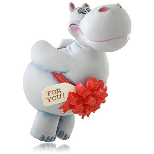 Hallmark QGO1037 2015 I Want a Hippopotamus for Christmas Ornament