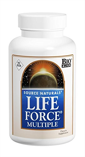 Source Naturals Life Force Multiple No Iron Energy Activator Complete Bio-Aligned Daily Vitamin - 90 Tablets