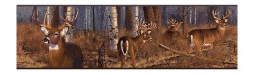 York Wallcoverings Lake Forest Lodge FZ4460BD Deer Border, ()