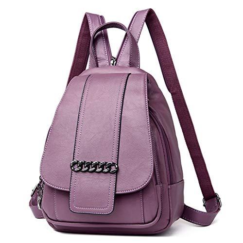 femmes dos bandoulière Gensotrn en sacs cuir adolescent sac bandoulière filles Purple Véritables sac A0UxwUR