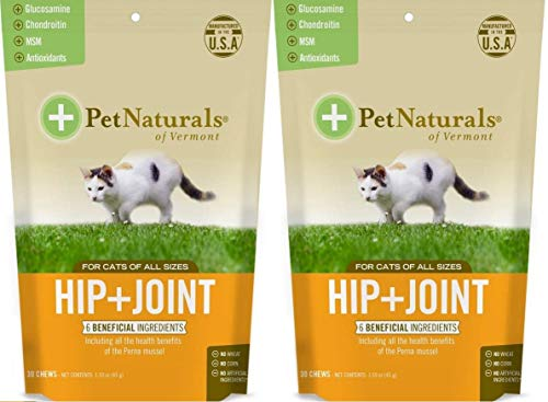 Natural Pet Hip + Joint Chew Supplements for Cats Size:Pack of 2