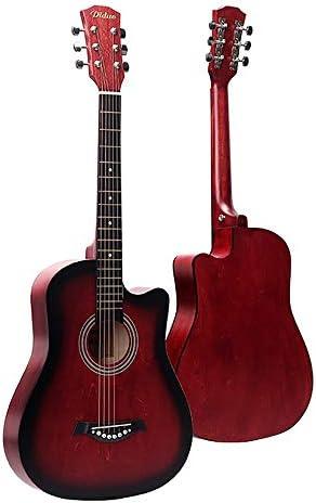 クラシックギター バスウッドギター38インチの大人学生フォークギター練習ギターのための学生の子供大人 女の子と男の子のギター (Color : E, Size : 38 inch)
