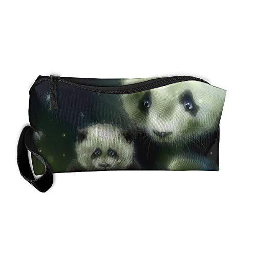 Mr.Roadman Coin Pouch Cute Panda Illustration Art Pencil Holder Clutch Wristlet Wallets Purse Portable Storage Case Zipper Makeup Cosmetic Bags ()