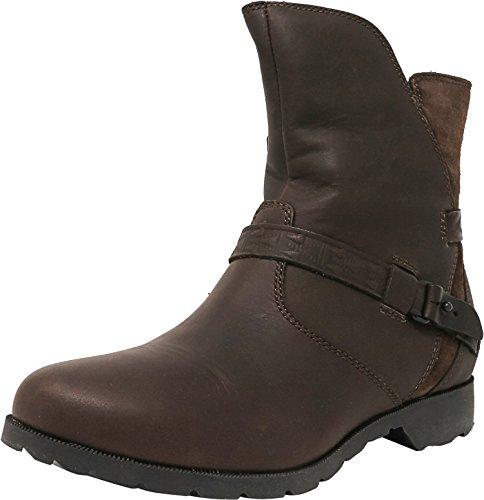 Teva Women's W Delavina Low-Mosaic Boot,Dark Brown,6 M US
