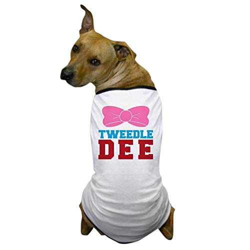 CafePress Tweedle Dee Matching Funny Graphic T Shirt Dog T-Shirt, Pet Clothing, Funny Dog Costume -