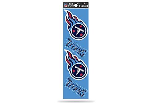(Rico Industries NFL Tennessee Titans Die Cut 4-Piece The Quad Sticker Sheet)