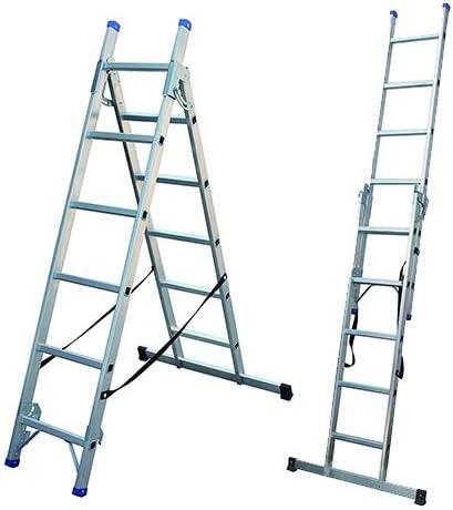 Escalera combinable de 3 modos, escalera de aluminio EN 131: Amazon.es: Bricolaje y herramientas