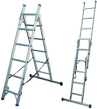 Escalera combinable de 3 modos, escalera de aluminio EN 131 ...