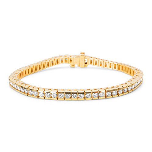 Channel Set Diamond Bracelet (BRAND NEW Channel Set Diamond Bracelet in 14K Yellow Gold (4.09 CTW))