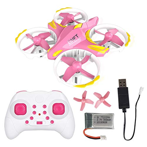 LtrottedJ Mini BNFT BN309 Infrared Remote Control Drone RC Quadcopter Headless Mode (Pink)