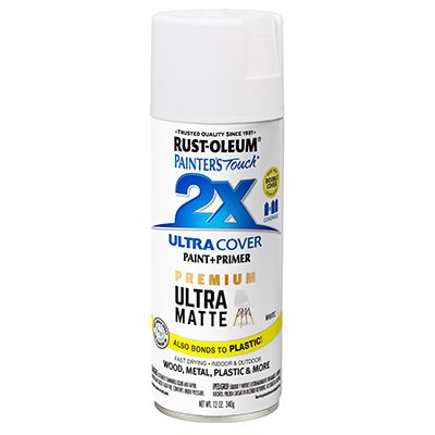 RUST-OLEUM 331181 Painters Touch 2X 12 OZ White Matte Spray Paint
