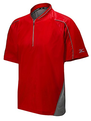 Mizuno Protect Batting Jersey, Red, Large