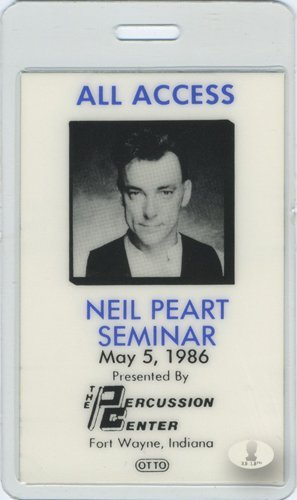 NEIL PEART 1986 Laminated Backstage Pass RUSH ()