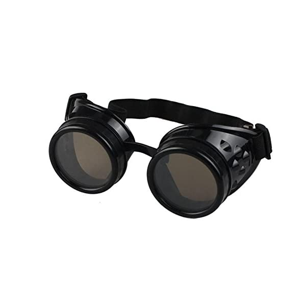 Nicky Bigs Novelties Steampunk Cosplay Goggles, Black, One Size 11