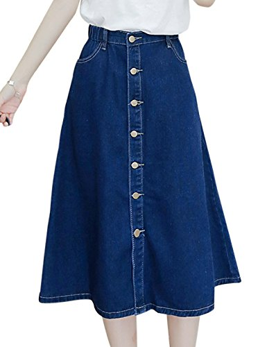 Button Down Cotton Skirt - 1