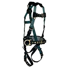 FallTech 7073LX Foreman Full Body Harness with 3 D-Ring and Tongue Buckle Leg Straps, Large/Extra Large