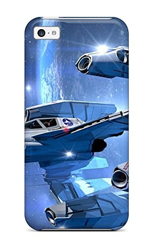 Hot GkKrNMP22553EYecL Spaceship Tpu Case Cover Compatible With Iphone 5c (Speck Iphone 5c Case Space compare prices)