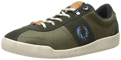 Fred Perry Stockport Nylon / Suede Green Mens Trainers - B6207-408