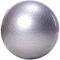 LALA LIFE Sgl Rubber Anti Burst Gym Ball (Grey, Medium)