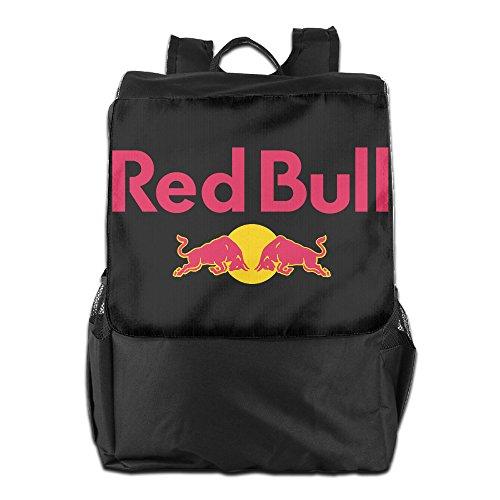 HALEIND Red Bull Logo Casual Fashion Backpack Shoulder Bag Black
