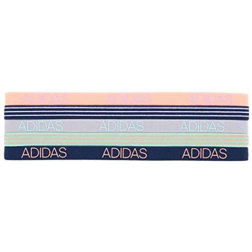 adidas Womens Creator Hairband (5-Pack), Light Flash Orange/Glow Purple/Clear Onix/Easy Green/Blue Night, One Size