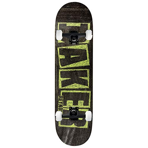 "Baker Skateboard Complete Reynolds Brand Name Chalk 7.75"" Black Trucks Assembled"