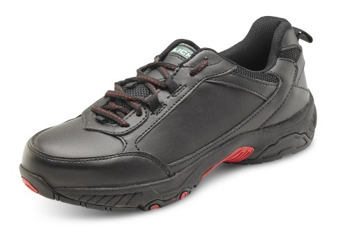 Click Footwear Full Safety Trainer Shoe With Steel Toe Cap / Midsole - Size 7