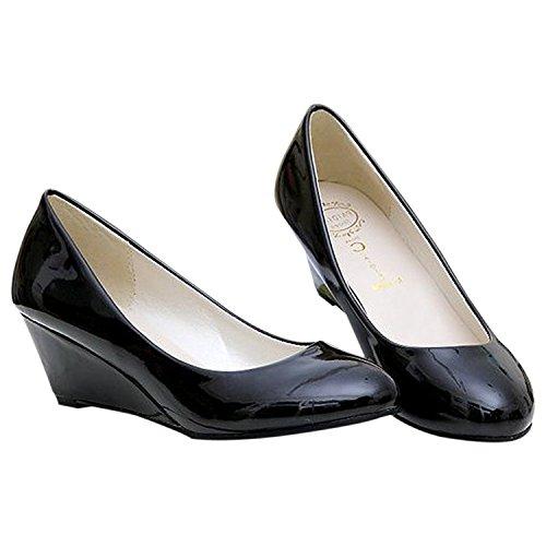 Talons Mariage Rouge Des Plateforme chaussures Sexy Ou Dames Pour Classique Noir Bout Rond Chaussure A Simples De Toogoo Us4 Femmes Bureau Bas vqxwYaHng